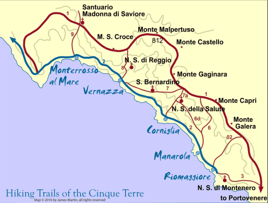 cinque-terre-map_credit to James Martin