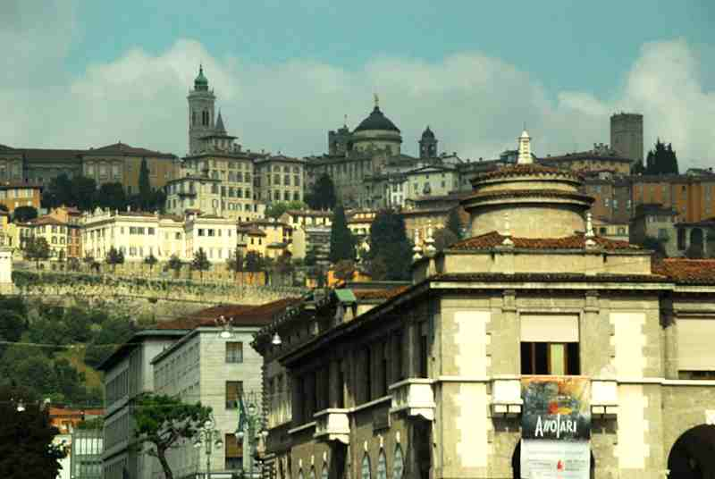 Bergamo in one day - Bergamo Alta view