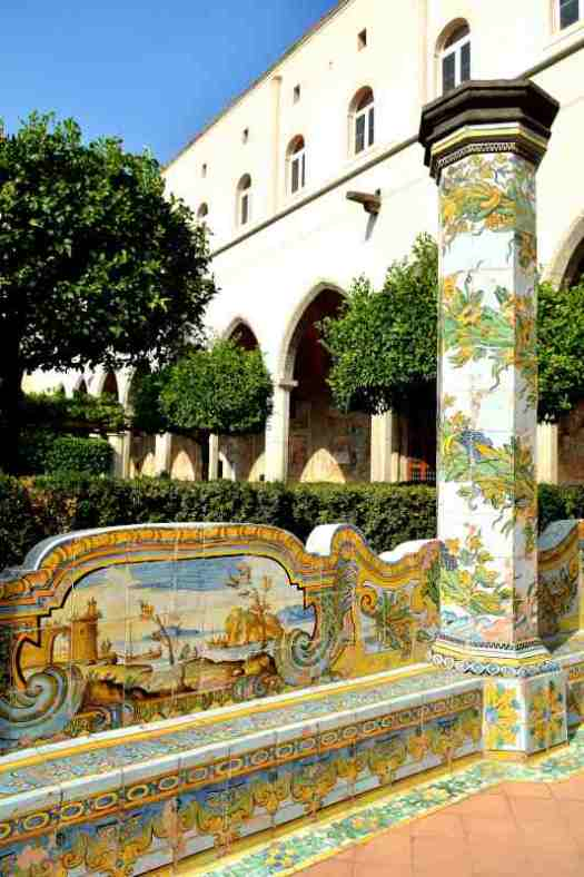 Naples in one day walking itinerary - Santa Chiara cloister