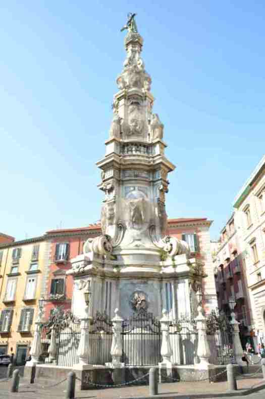 Naples in one day walking itinerary - piazza del Gesu Nuovo