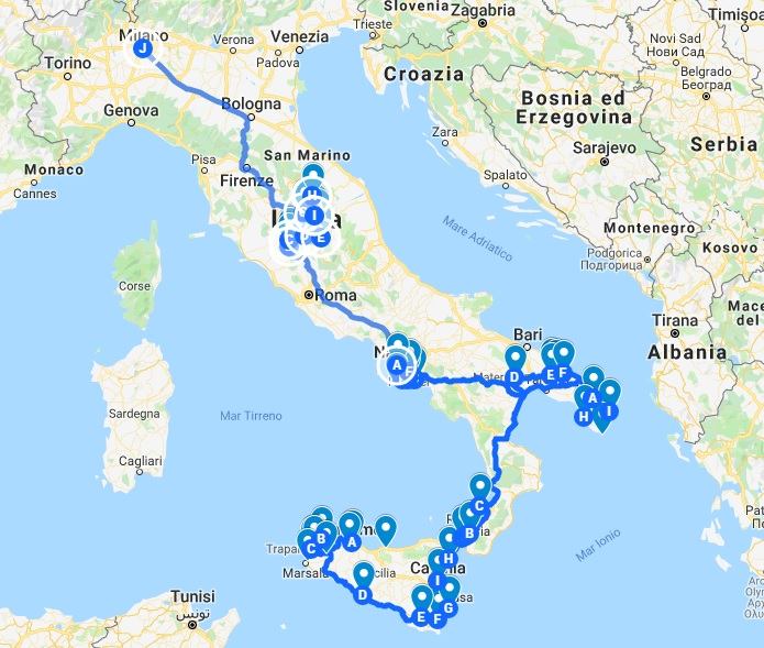 Italy trip planning service