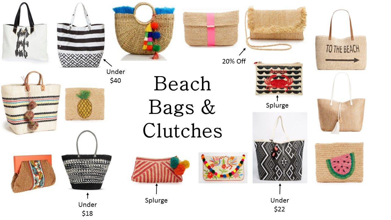 Beach Bags & Clutches