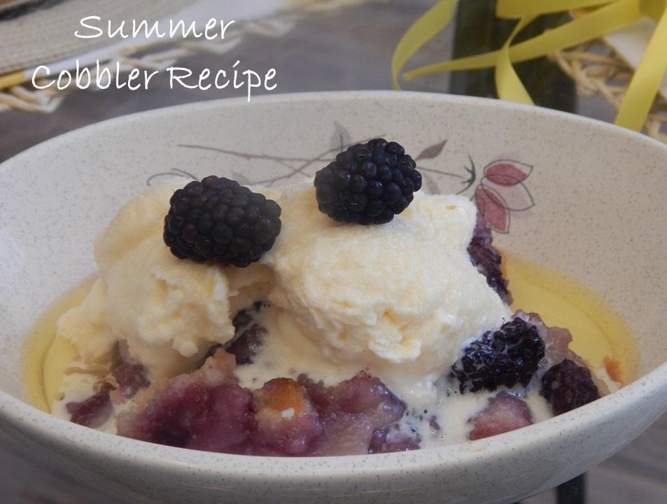 Blackberry Cobbler…. Summer Recipe