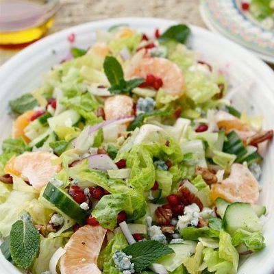 10 Minute Healthy Pomegranate Salad