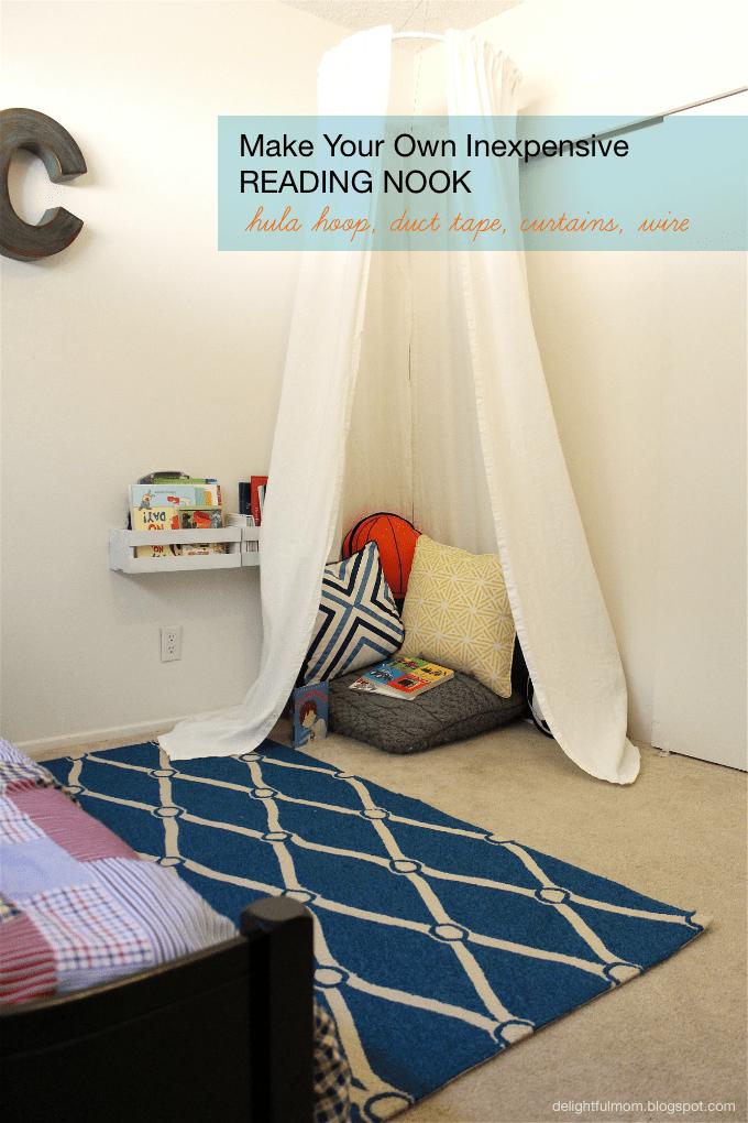 Inexpensive Bedroom Reading Nook: DIY | Delightful Mom Food