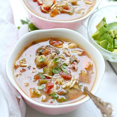 Chicken Taco Soup Recipe (Slow Cooker)