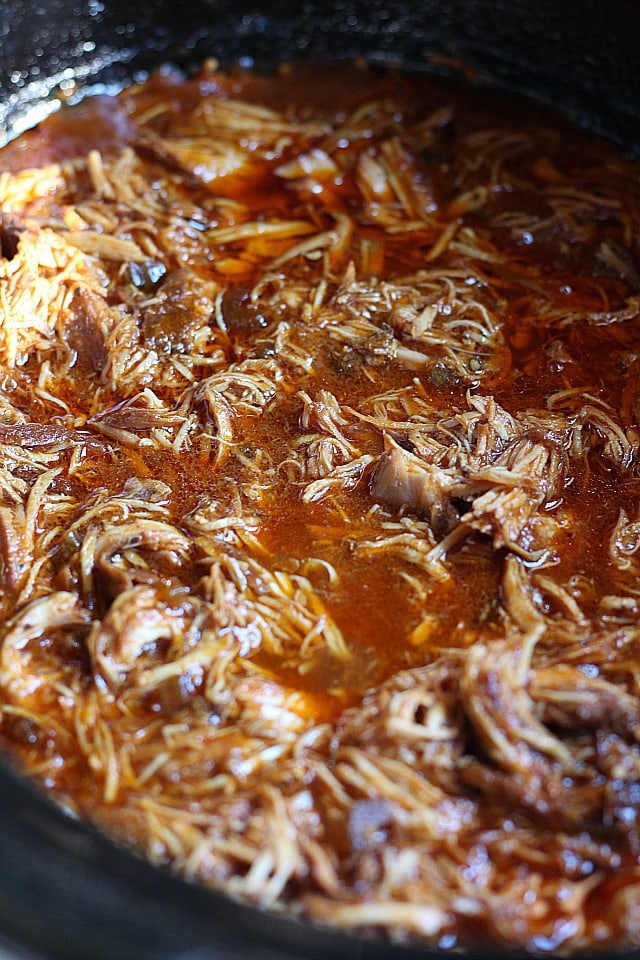 Crock Pot Simmering BBQ Chicken