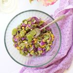 Fava Bean Salad Tossed In Honey Vinaigrette Dressing