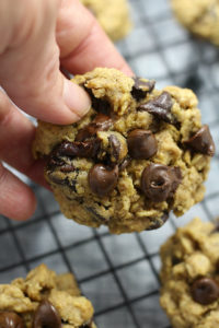 Perfect for healthy diets and gluten free desserts. This gluten free and dairy free oatmeal chocolate chip cookie recipe is a perfect as an after school snack or dessert . Ready in 5 minutes and in the oven for just 10 minutes. | Delightful Mom Food