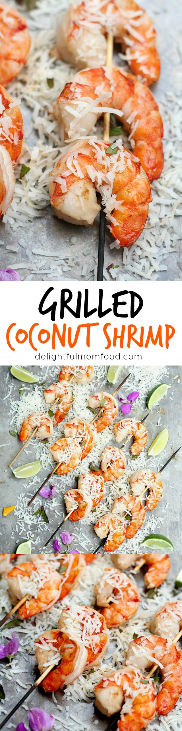 Coconut milk shrimp skewers recipe
