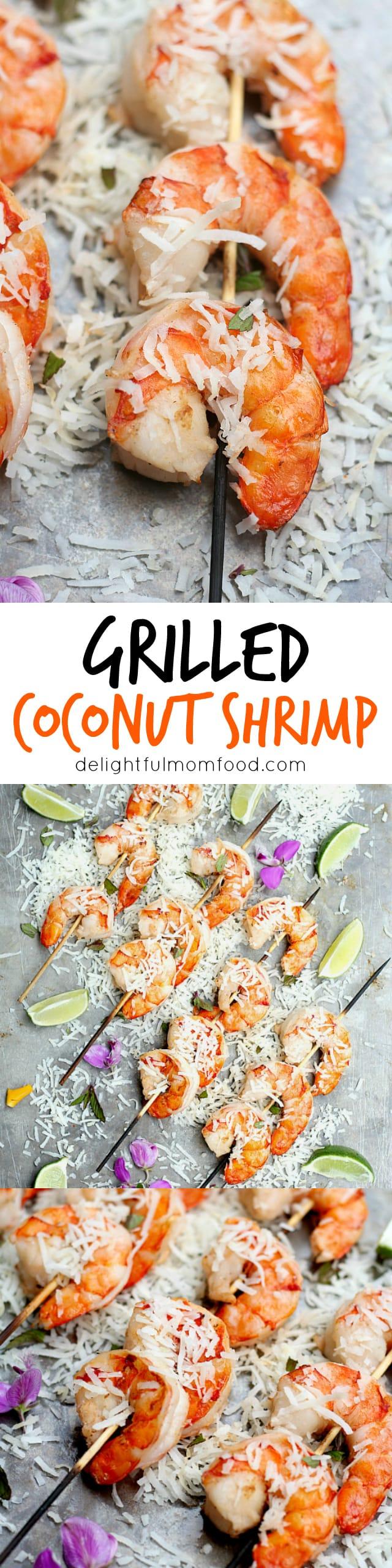 Coconut milk shrimp skewers recipe