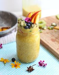 Turmeric and Honey Overnight Oatmeal