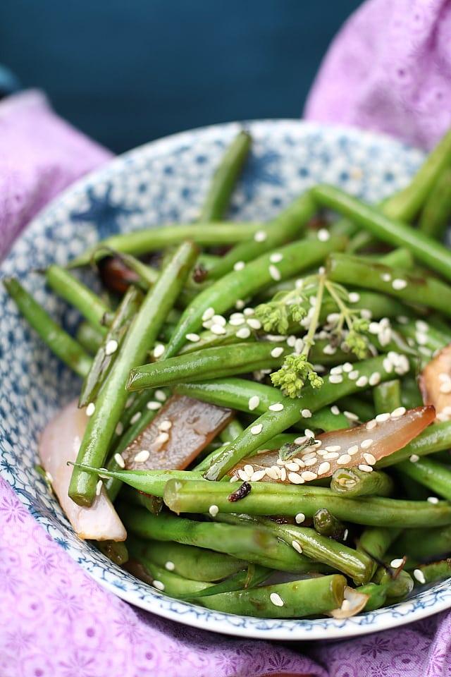 Sauteed Teriyaki Asian Green Beans