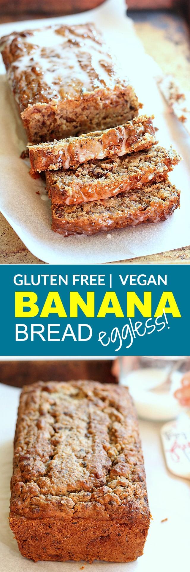 Eggless Banana Bread | Gluten Free | Vegan | One Bowl!!! | Delightful Mom Food