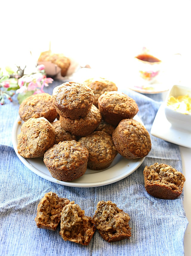 Easy Oatmeal Muffins | Gluten Free | Made with Flax and Chia Seeds