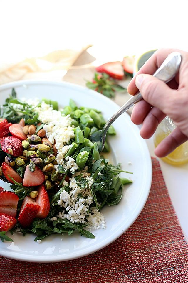 Arugula Strawberry Salad Orange Poppyseed Dressing