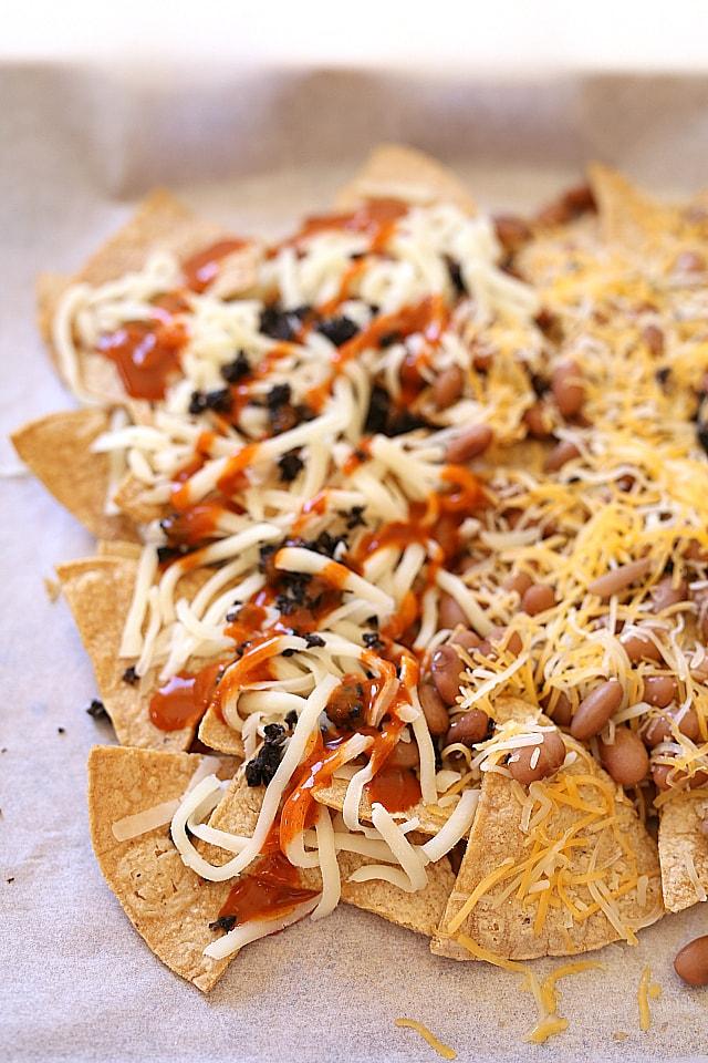 Enchilada baked nachos