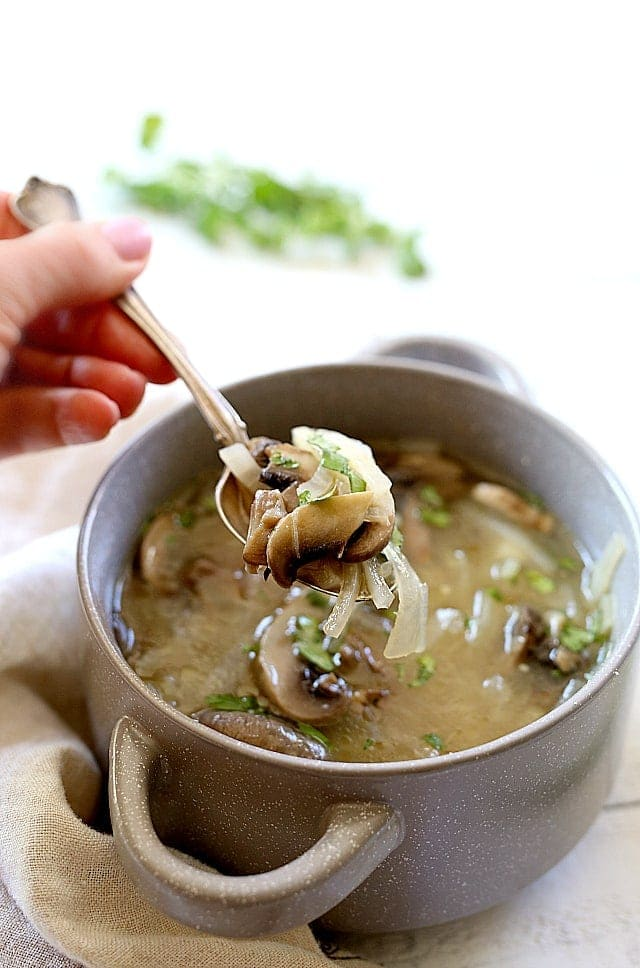 EAsy Mushroom Onion Soup Recipe
