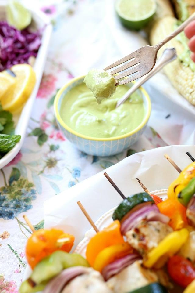 Creamy cilantro cashew fish sauce
