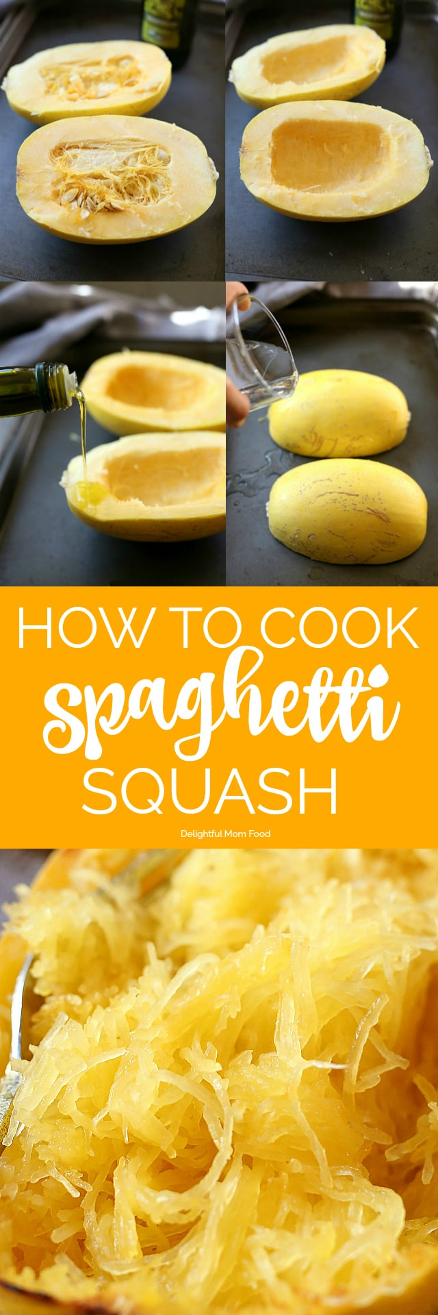 How to cook spaghetti squash roasted, microwaved, in the slow cooker and grilled easily and effortlessly!