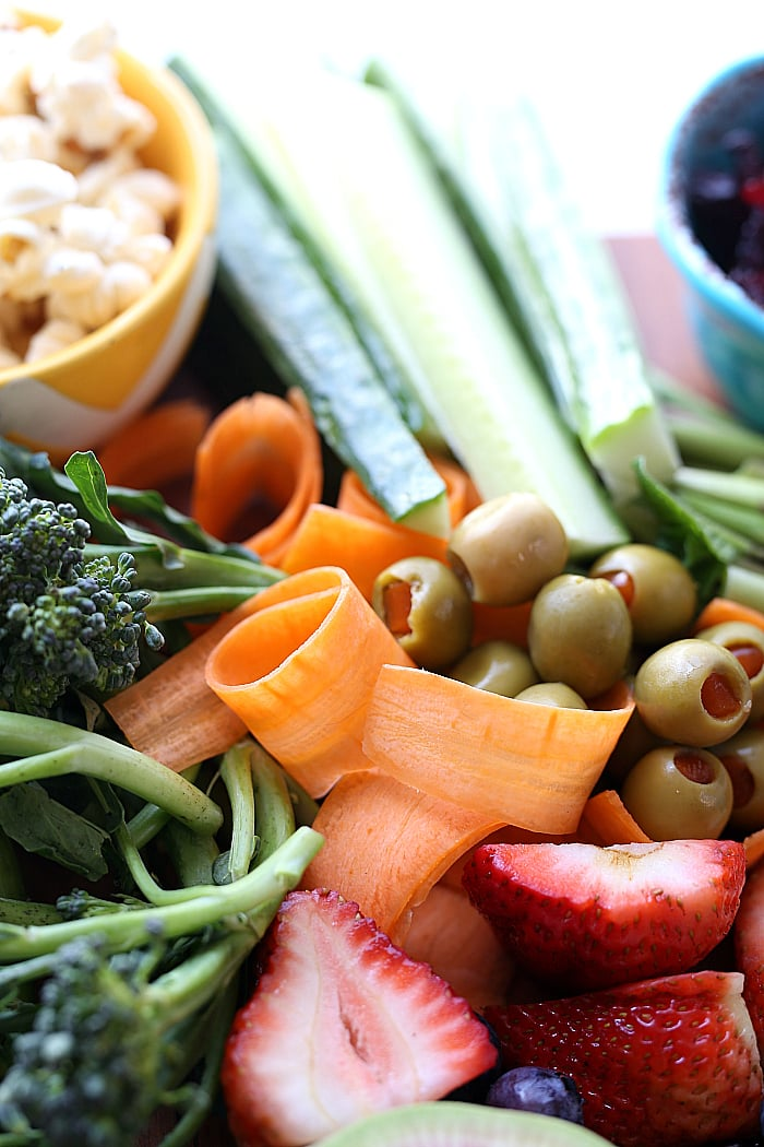 peeled carrot ribbons party platter & healthy snacks for kids