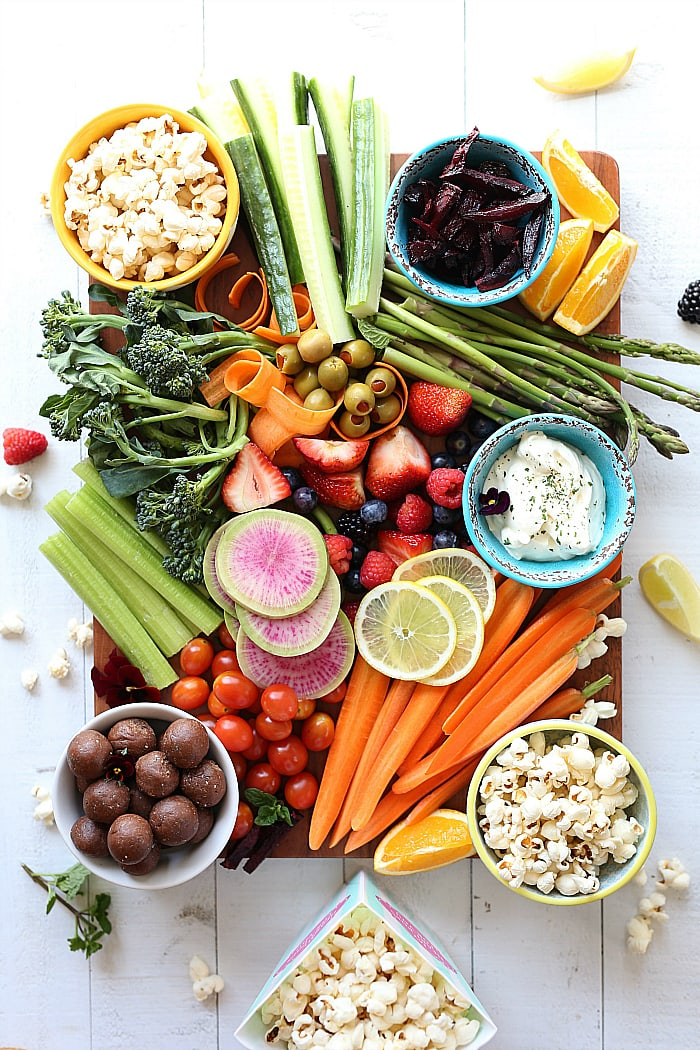 Healthy Snacks Party Platter For Kids (Vegan, Gluten-Free