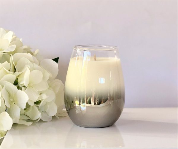 Riley Stemless Soy Candle in Silver