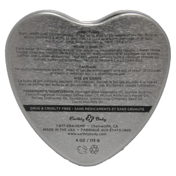 Earthly Body Heart Babydoll Massage Candle Multi 4oz