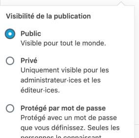 Publier une page WordPress