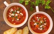 レンズ豆のトマトスープ