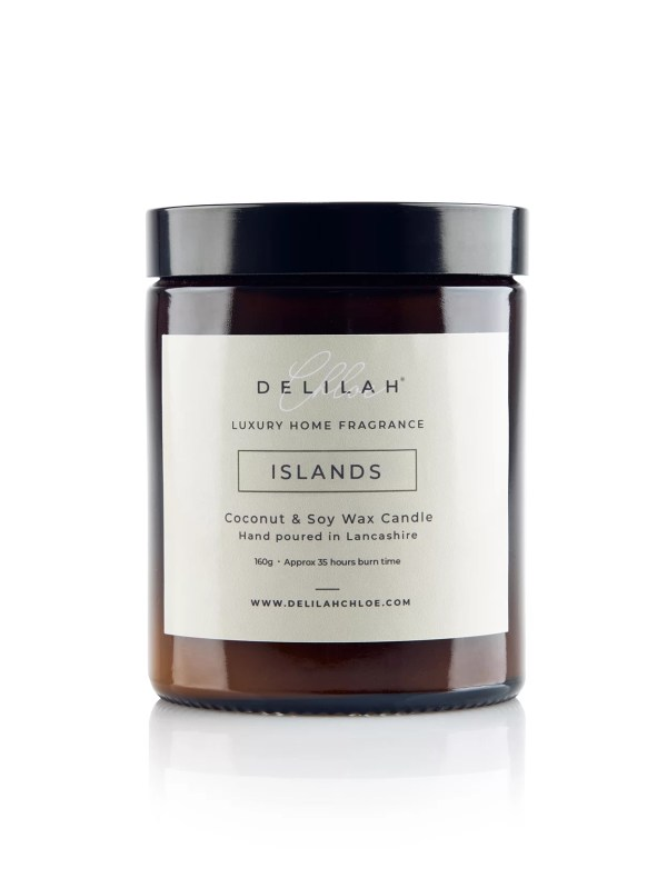 Luxury Citrus & Basil scented Soy Wax Candle, Islands by Delilah Chloe. Luxury Home Fragrance