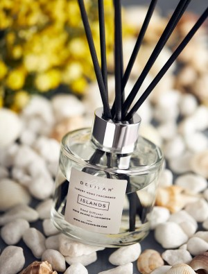 Citrus and Basil luxury reed diffuser, Home Fragrance by Delilah Chloe