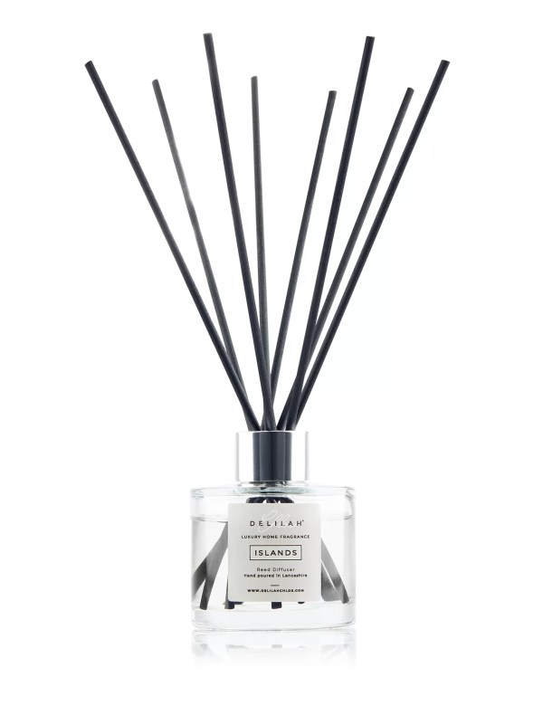 Lime, Basil and Mandarin fragranced reed diffuser, Islands by Delilah Chloe home fragrance