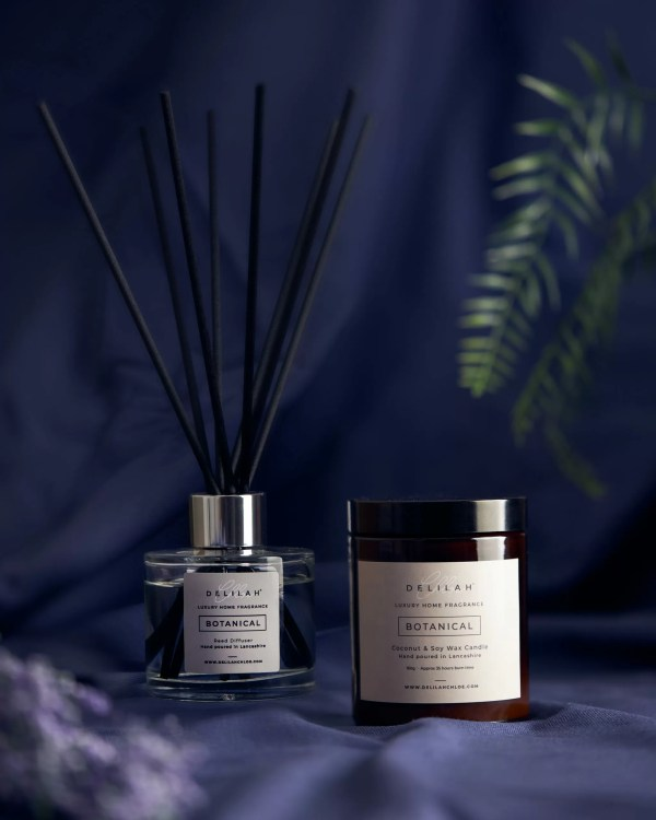 Botanical Candle and Reed Diffuser set by Delilah Chloe Luxury home fragrance