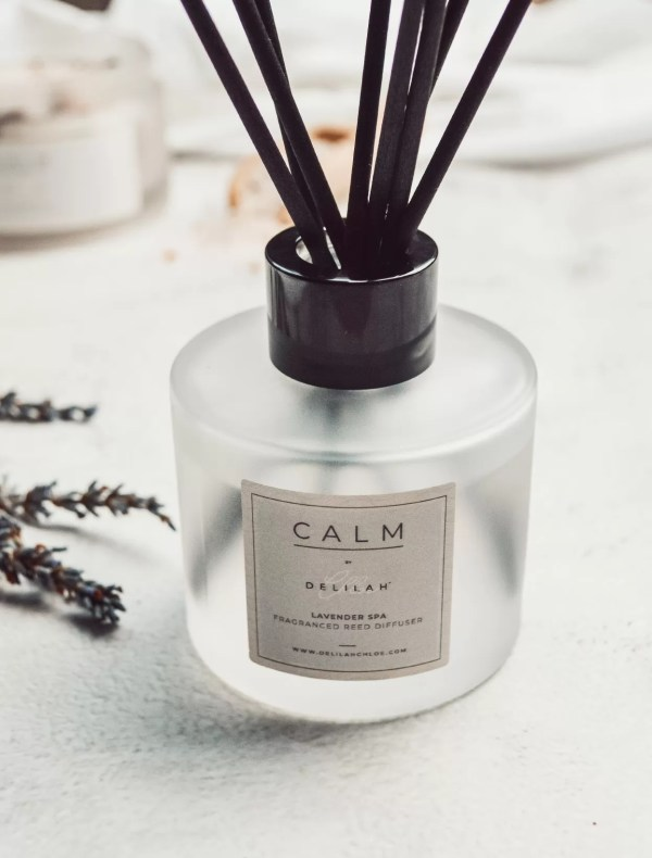 CALM Reed Diffuser by Delilah Chloe. Luxury Lavender Fragrance Diffuser, Luxury Home Fragrance