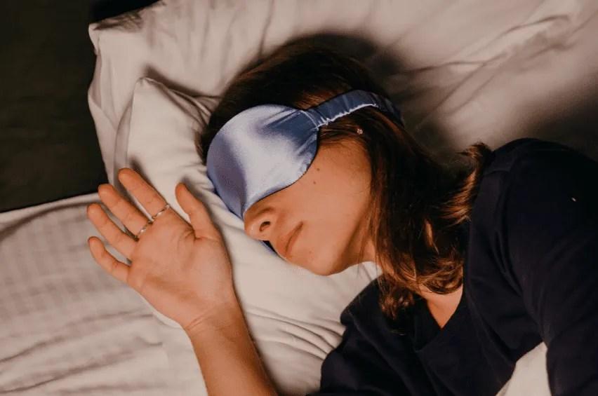 Sleep well with eye mask