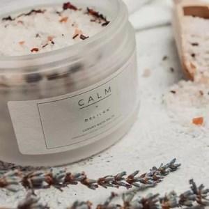 CALM, Luxury All-Natural Bath Salts by Delilah Chloe