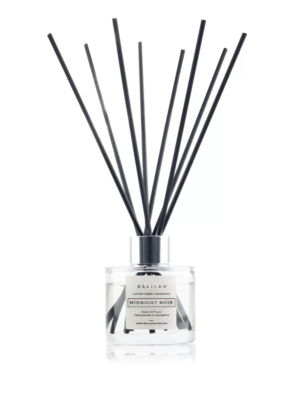 Midnight Noir Reed Diffuser, Luxury Black Fig & Vetiver Reed Diffuser by Delilah Chloe