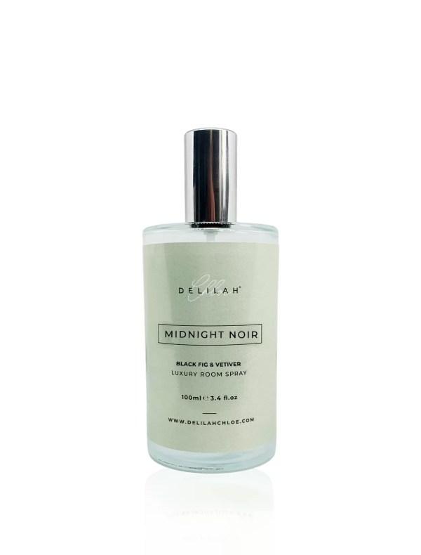 Midnight Noir Luxury Room Spray, luxury air fresheners by Delilah Chloe. Designer Home Fragrances