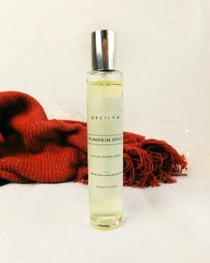 Pumpkin Spice Room Spray, Autumn Fragranced Room Spray, Luxury Home Fragrances by Delilah Chloe
