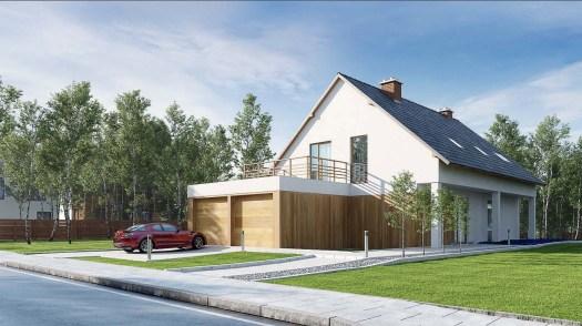 infografía en 3D exterior vivienda