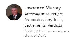 Testimonial of Lawrence Murray