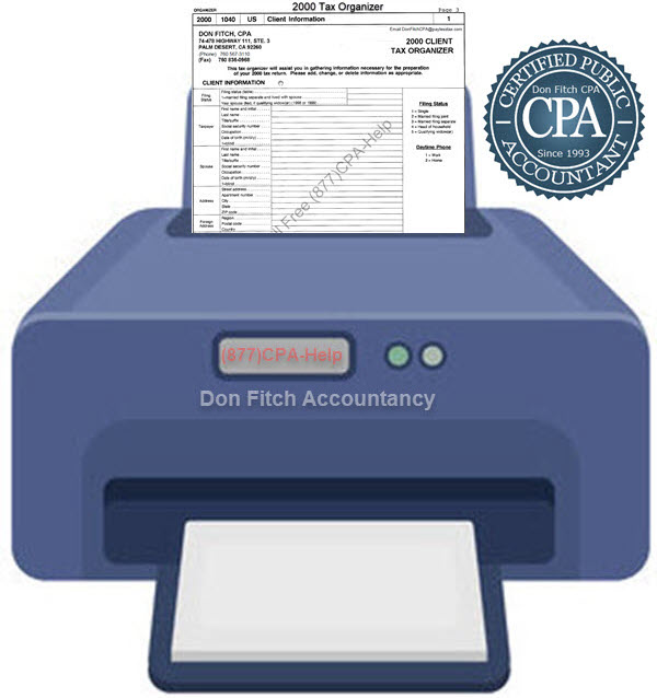 2000 Tax Organizer - Click on the above to Download the 2000 Tax Organizer in pdf format
