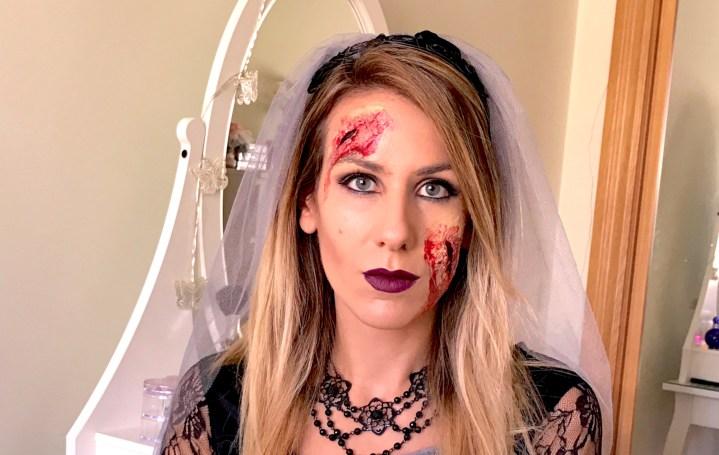 Maquillaje de Halloween con látex