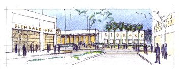 Urban Design Concept for new Library Entry Plaza