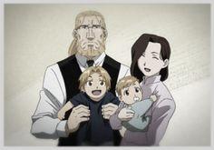 Trisha com a família