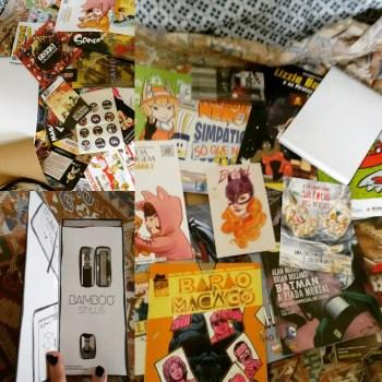 Brindes e quadrinhos que comprei/ganhei na CCXP 2015