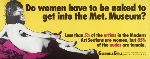 Do Women Have To Be Naked To Get Into the Met. Museum? - Guerrilla Girls