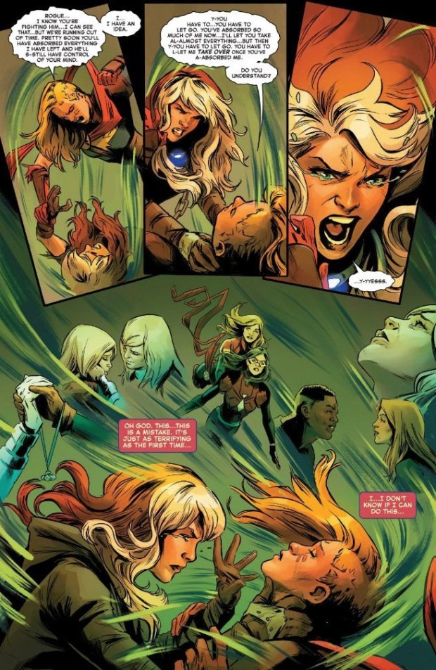 Vampira e Capitã Marvel em Captain Marvel #4
