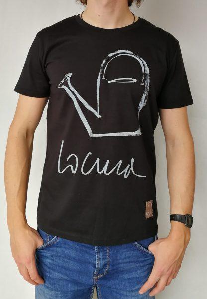 Camiseta locura manga corta color negro hombre